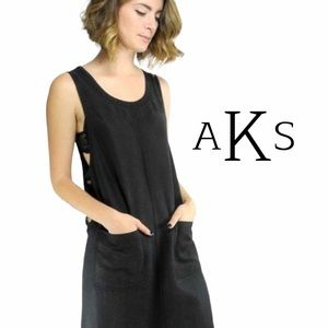Amy K Su 90's Style Vintage Long Overall Dress